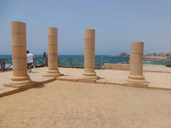 Pillars of Herod's Palace Caesarea